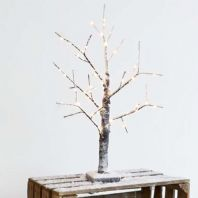 Shabby Chic Snow Effect Birch Twig Tree, With Warm White LEDs